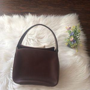 Vintage Coach Brown Leather Handbag